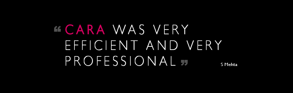 Cara was very efficient and very professional.