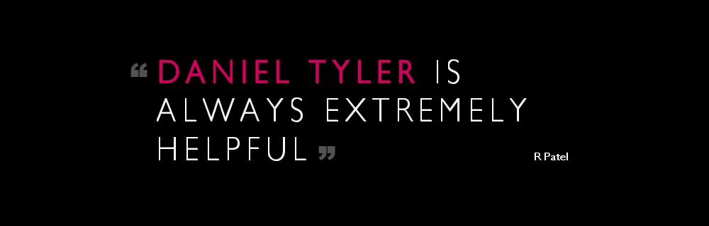 Daniel Tyler is always extremely helpful.